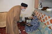 از مادر شهید محمد رضا نیکنام تجلیل شد