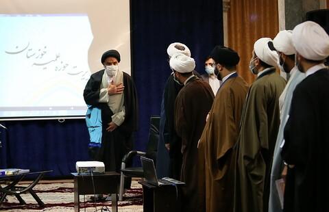 تصاویر/ دیدار مدیر و معاونان حوزه علمیه استان خوزستان با آیت الله اعرافی