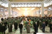 تصاویر / مراسم بزرگداشت آغاز دهه فجر در حرم کریمه اهل بیت (ع)