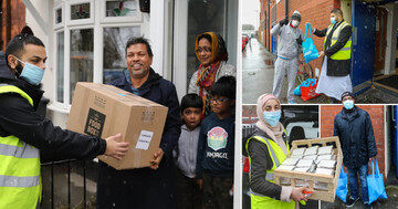 Volunteers at Birmingham mosque battle snow to hand out 2,000 meals to vulnerable