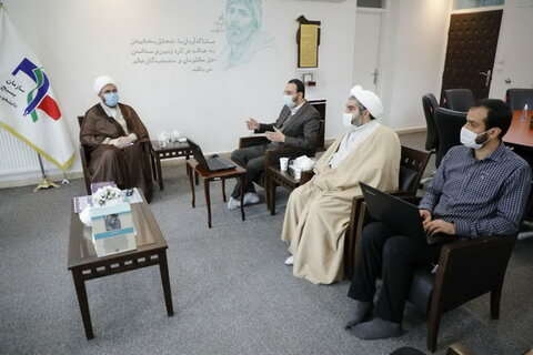 حضور حجت الاسلام والمسلمین حاج علی اکبری در سازمان بسیج دانشجویی