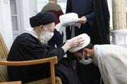 تصاویر / عمامه گذاری طلاب توسط آیت الله العظمی شبیری زنجانی