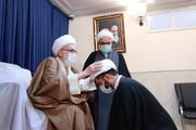 تصاویر/ عمامه گذاری طلاب مدرسه علمیه دارالسلام تهران توسط آیت الله العظمی نوری همدانی