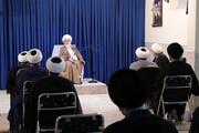 فیلم | دیدار طلاب مدرسه علمیه دارالسلام تهران با آیت الله العظمی نوری همدانی
