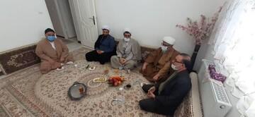 عیادت نمایندگان آیت الله اعرافی از استاد پیشکسوت حوزه