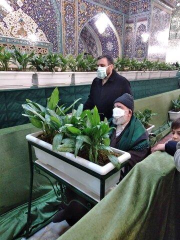 عکس/ استاد جاودان در حرم مطهر رضوی