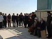 تجدید میثاق اساتید و طلاب مدرسه علمیه صالیه قزوین با شهدای گمنام + عکس