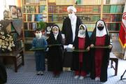 تصاویر/ دیدار جمعی از دانش آموزان یزدی در دهه فجر با آیت الله ناصری یزدی