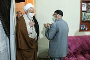 دیدار امام جمعه قزوین با خانواده شهیدان جامکلو و نصرالهی + عکس