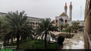 عکس خبری/ بارش باران زمستانی در حوزه علمیه اهواز