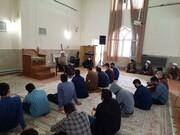 تصاویر/ نشست طلاب مدرسه علمیه قرآنی کرمانشاه و طلاب کامیاران