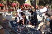 تصاویر/ غبارروبی مزار شهدا توسط اساتید و طلاب مدرسه علمیه امام خامنه ای ارومیه
