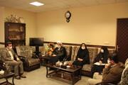 نشست مشترک مدیر حوزه علمیه خواهران استان قم با مدیرکل کمیته امداد استان