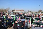 تصاویر/ راهپیمایی خودرویی ۲۲ بهمن در گیلان