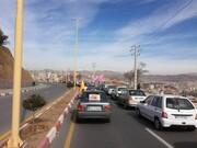 تصاویر/ راهپیمایی خودرویی یوم الله ۲۲ بهمن در سنندج -۲
