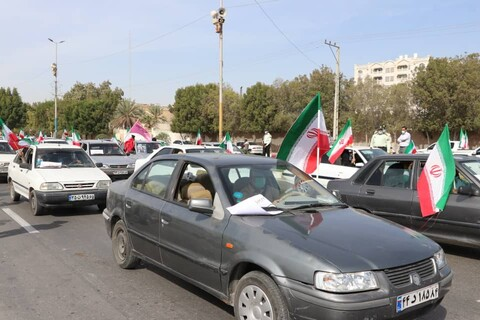 راهپیمایی خودرویی 22 بهمن در بندرعباس