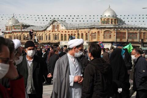 مسئولان همدانی پای درد دل مردم در حاشیه راهپیمایی ۲۲ بهمن