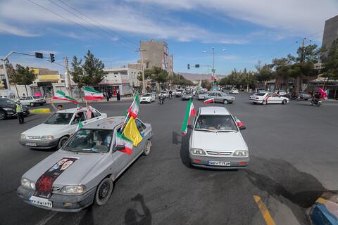 راهپیمایی موتوری و ماشینی ۲۲ بهمن در بیرجند