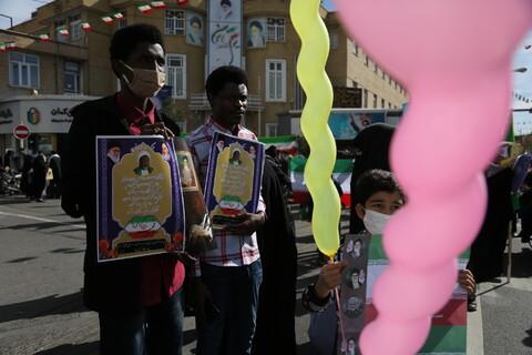 تصاویر/ مراسم راهپیمایی ۲۲ بهمن قم