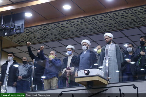 بالصور/ مراسيم الاحتفاء بالذكرى العاشرة لانطلاق ثورة 14 فبراير في البحرين بقم المقدسة