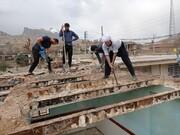 تصاویر/ تعمیر و بازسازی منازل مناطق محروم توسط طلاب جهادی حوزه علمیه استان ایلام