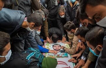 پیکر شهید «محسن جعفری» در خاک آرام گرفت