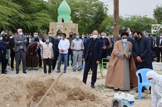 پیکر آیتالله سید رضی علوی در لامرد تشییع شد + عکس