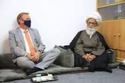 آیت اللہ العظمی حافظ بشیر نجفی کی خدمت میں نیدرلینڈ کے عراق میں سفیر