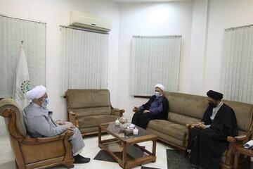بالصور/ مدير الحوزات النسوية في إيران يلتقي بالأمين العام للمجمع العالمي لأهل البيت (ع) بقم المقدسة