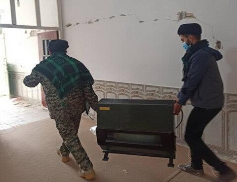 کمک طلاب و روحانیون جهادی به مردم زلزله زده سی سخت