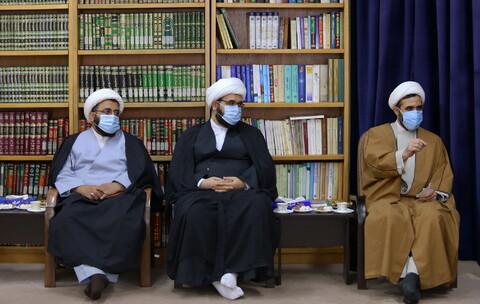 تصاویر/ دیدار معاون تبلیغ حوزه علمیه خراسان با آیت الله اعرافی