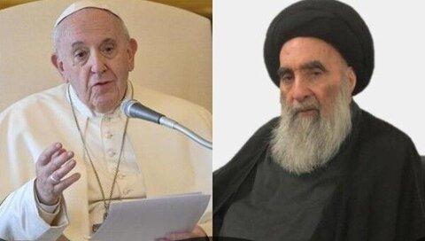 دیدار پاپ فرانسیس با آیت الله العظمی سیستانی