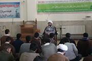 تصاویر/ حضور مدیر حوزه علمیه کردستان در جمع طلاب کامیاران