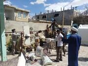 طلاب و روحانیون جهادی در میدان خدمت به زلزله زدگان سی سخت
