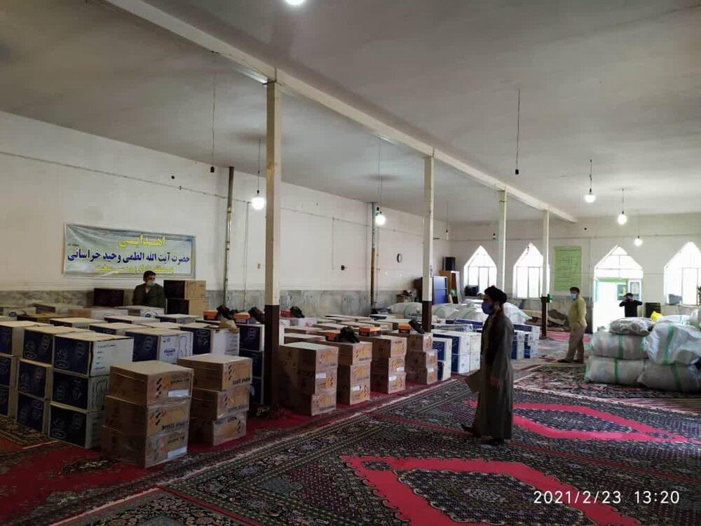 دومین مرحله کمک های دفتر آیت الله العظمی وحید به سیسخت رسید + عکس