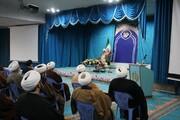 تصاویر/ سخنرانی مسئول دفتر اجتماعی سیاسی حوزه در جمع روحانیون ارومیه