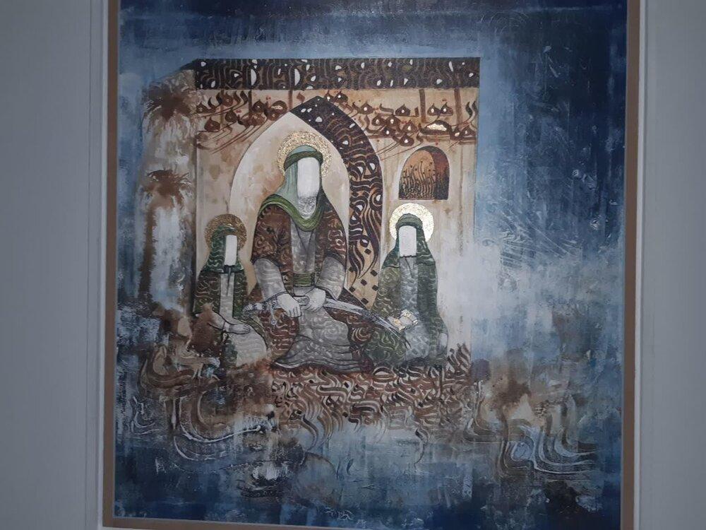 """نمایشگاه آثار برگزیده جشنواره سوره """"هل اتی"""" در کاشان افتتاح شد"""