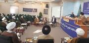 حضور وزیر بهداشت در جلسه جامعه مدرسین حوزه علمیه+ تصاویر