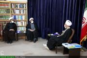 دیدار رئیس مرکز اسلامی هامبورگ با آیت الله اعرافی