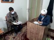 تصاویر/ طرح پایش «تجوید الصلاة» طلاب مدرسه علمیه امام صادق (ع) بیجار