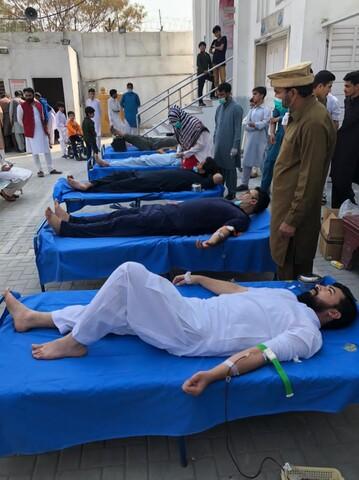 لاہور، منہاج الحسین کے طلبہ نے تھیلیسیمیا کے مریضوں کیلئے خون کا عطیہ دے کر جشن مولود کعبہ منایا