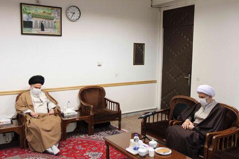 آیت الله حسینی بوشهری در دیدار با حجت الاسلام و المسلمین دژکام