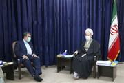 دیدار دبیر مجمع تشخیص مصلحت نظام با آیت الله اعرافی