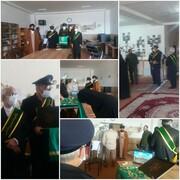 حضور خادمان حرم  فاطمی در مدرسه علمیه حضرت معصومه(س) در سیسخت