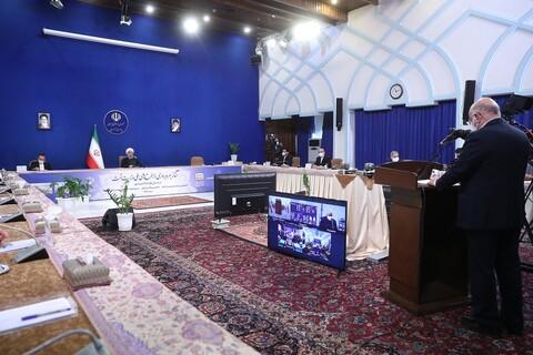 تصاویر/ مراسم بهره برداری از طرحهای ملی وزارت نفت با حضور رئیس جمهور
