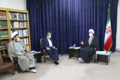 تصاویر / دیدار دبیر تشخیص مصلحت نظام با آیت الله علیرضا اعرافی