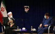تصاویر/ دیدار رئیس ستاد اجرایی فرمان امام خمینی(ره) با آیت الله اعرافی