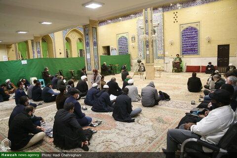بالصور/ إقامة مجلس تأبين لمرور سنة على وفاة حجة الإسلام والمسلمين الشيخ أبو ماجد حامد ظاهري بقم المقدسة