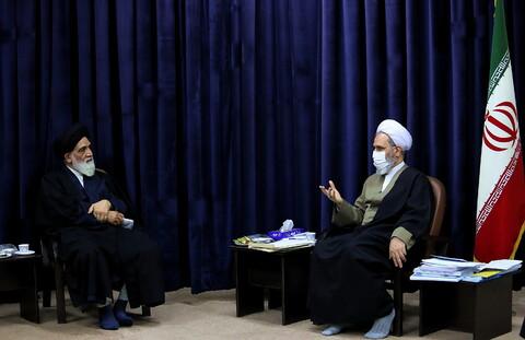 تصاویر/ دیدار رئیس دیوان عالی کشور با آیت الله اعرافی
