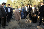 تصاویر/ مراسم آغاز غرس نهال در حوزههای علمیه سراسر کشور در مجتمع شهید صدوقی قم